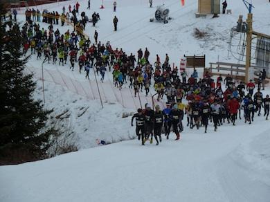 Départ du Snow Trail