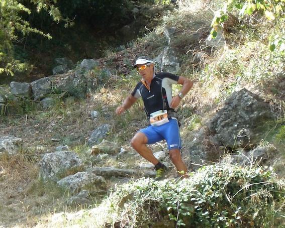 Descente trail Gorbio