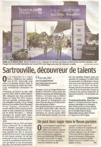 Le Parisien du 09/07/2011