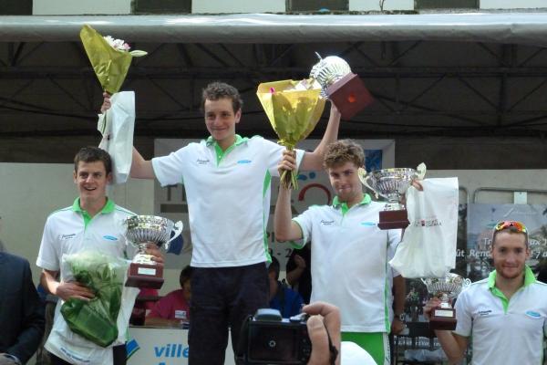 Podium du triathlon de Sartrouville