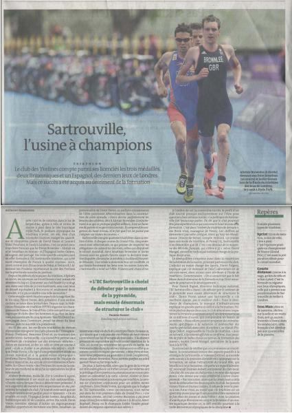 Sartrouville, l'usine à champions - Le Monde du 20-10-2012
