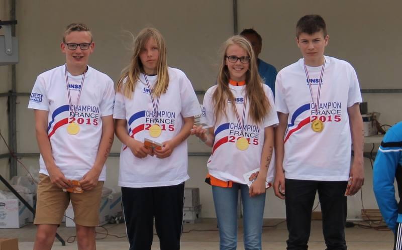 Les collégiens de Thérouanne, champions de France UNSS de duathlon!!!