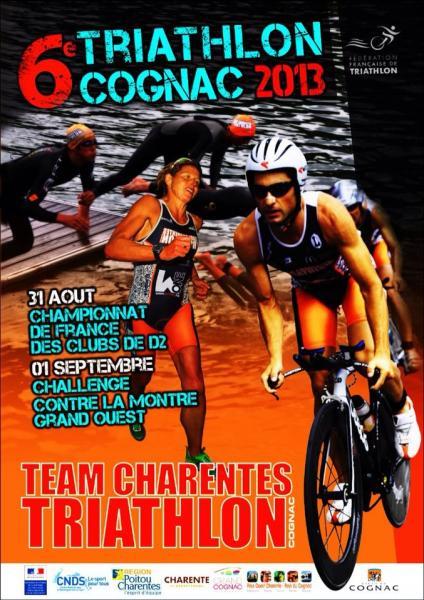 Affiche triathlon Cognac