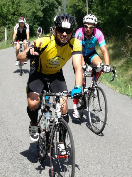 Laurent sur le parcours vélo