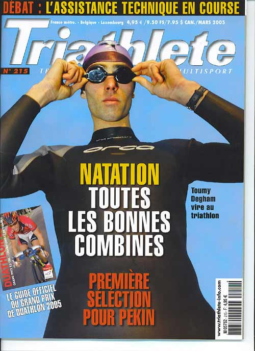 couverture triathlete mars 2005