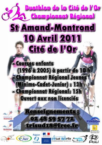 Affiche du championnat régional de Duathlon 2011
