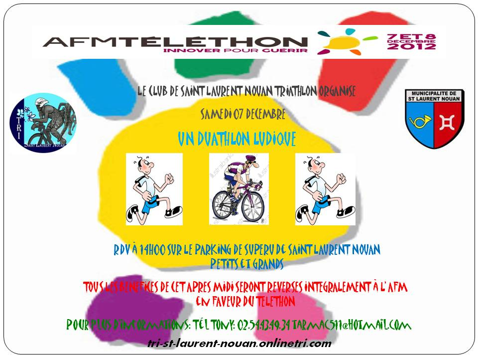 Affiche téléthon 2012