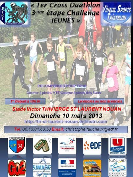 cross duathlon de SLTN challenge jeune 2013