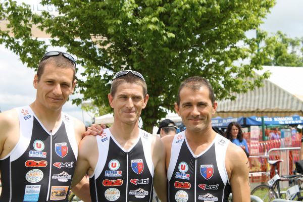1ère Manche D3 Triathlon (Etienne, Fred et Steph)