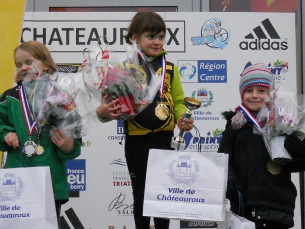 Lila sur la 3ème MArche du podium au Cross Duathlon TCC36