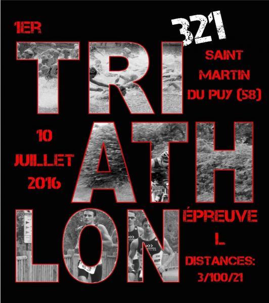 triathlon 321 de saint martin du puy