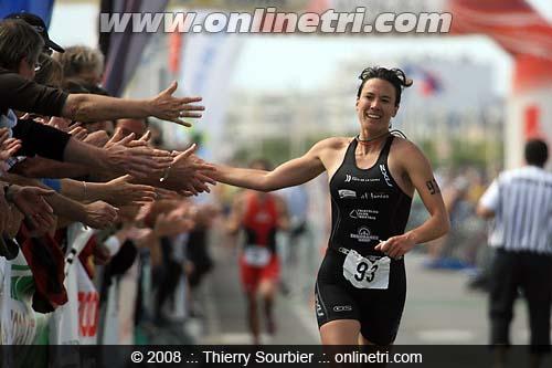 Victoire de Céline aux Sables d'Olonne 2008