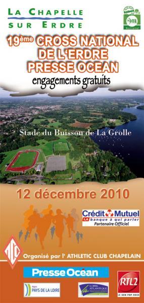 Affiche du cross de l'Erdre 2010