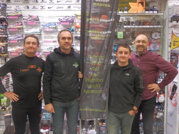 PP notre président avec William (Endurance Shop Nantes Centre), Manu (Endurance Shop Orvault) et Laurent notre vice-président