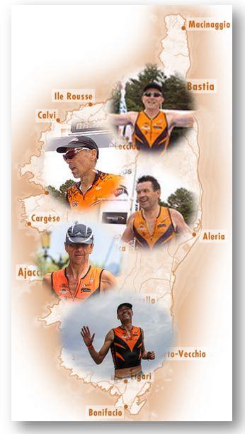 Les 5 potes, Franck, Alain, Christian, François et Gérard en route pour la Corse !