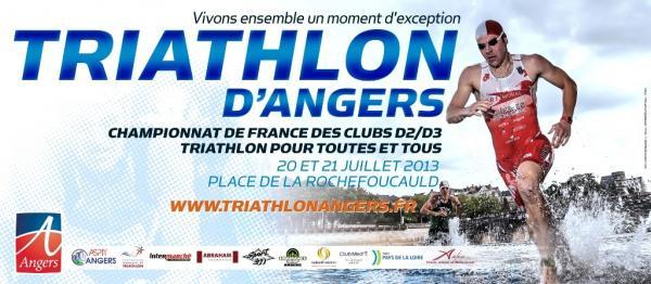 Triathlon d'Angers, support de la 1/2 finale D3 Nord