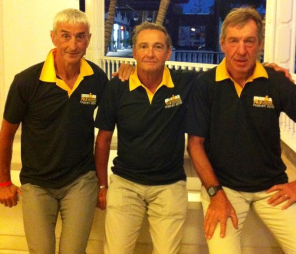 Francis, PP et Jean-Paul avec leur polo de finisher !!!