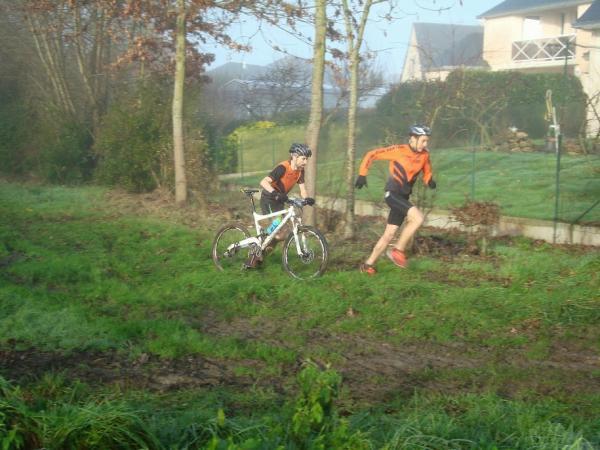 David et Vincent en tête de course du 20km