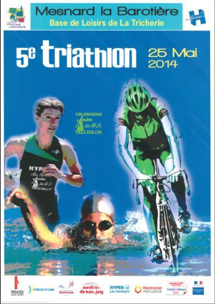 affiche triathlon herbiers 2014