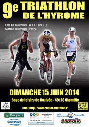 affiche triathlon chemille 2014