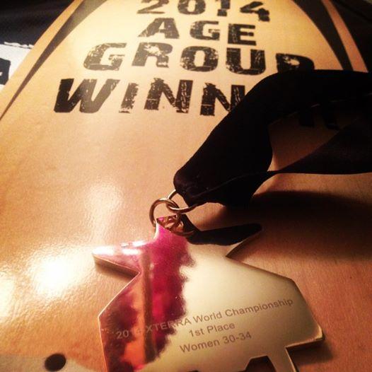 Le titre et la médaille de WORLD CHAMPION pour Laurianne