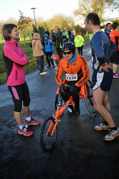 Alexandre PAVIZA et Laurent GONON au départ du 10km