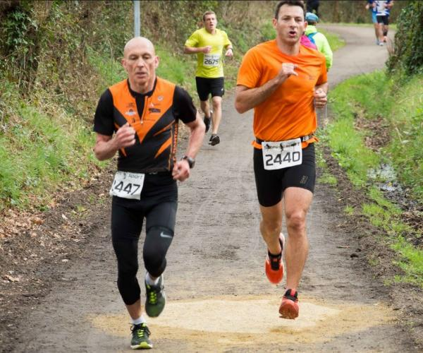 Olivier et Mark sur le 8km