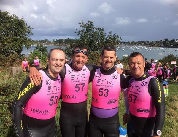 De g à d : Julien, Emmanuel, François-xavier, Pierre-Yvon