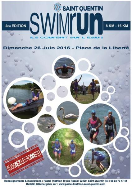 Affiche SwimRun St-Quentin 2016