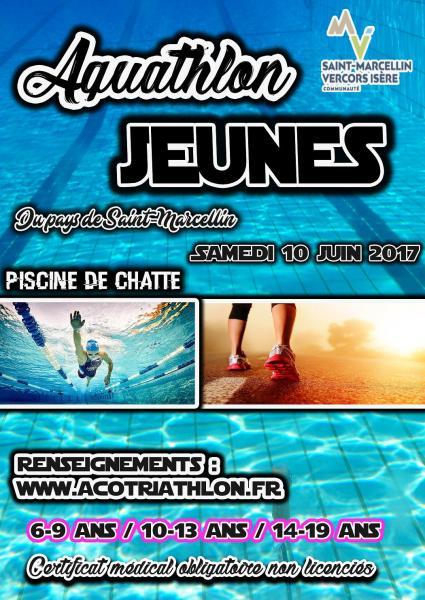 Affiche - Aquathlon Pays de Saint Marcellin