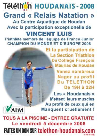 Triathlon scolaire vincent luis au telethon houdanais for Piscine houdan