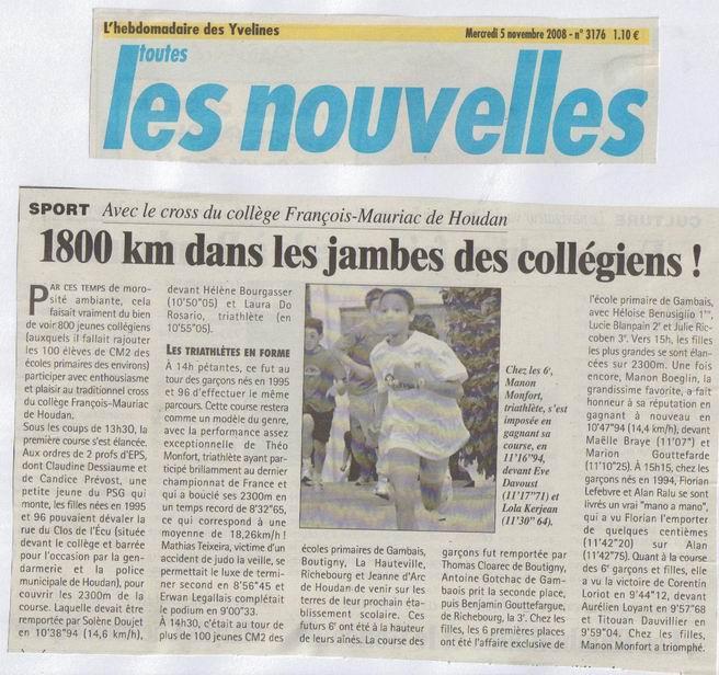 Les Nouvelles Cross 2008-2009