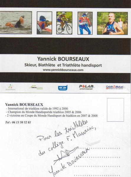 Dédicace Yannick Bourseaux