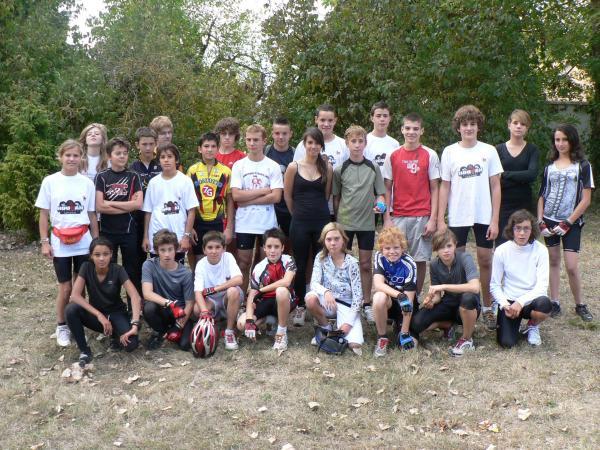 Septembre 2009 : La section triathlon presqu'au grand complet !