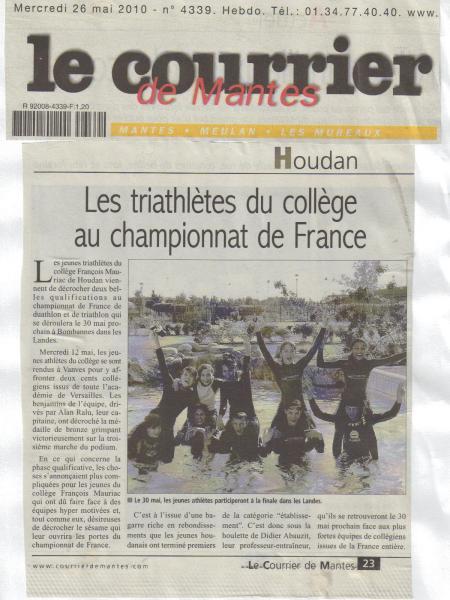 article Le Courrier de Mantes 26 mai 2010.jpg