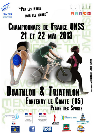 affiche champ France duathlon triathlon 2013
