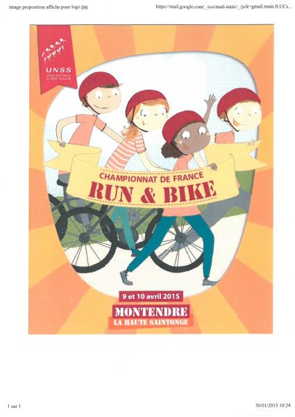 affiche Run & Bike 2015