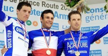 Podium Championnats de France de CLM