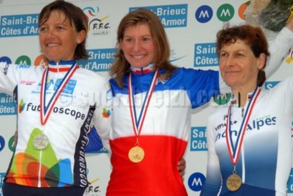 Podium Championnats de France route féminins