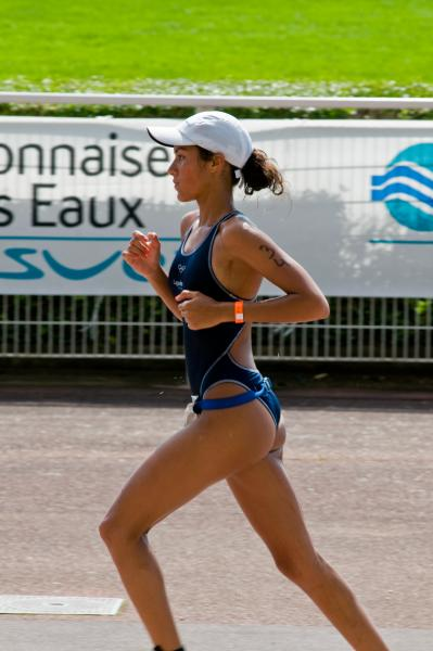 Fabienne Saint Louis. Victoire Triathlon de Paris