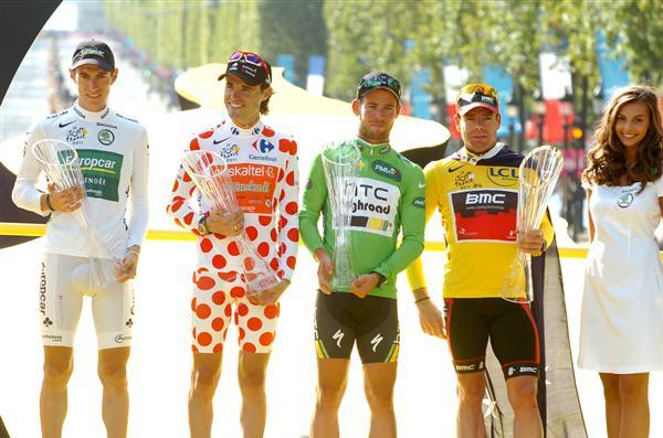 Podium Tour De France 2011