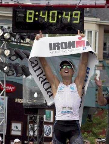 Victoire 2012 de Romain Guillaume à IM Mont Tremblant au Canada