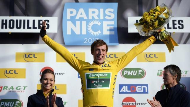 Victoire de Damien Gaudin sur le prologue de Paris-Nice 2013