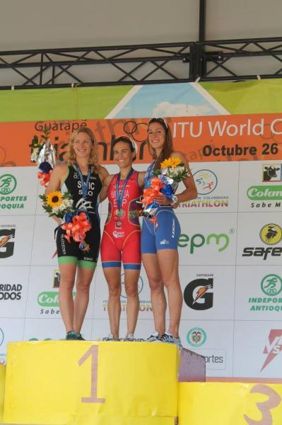 Podium ITU Triathlon World Cup Guatape 2013