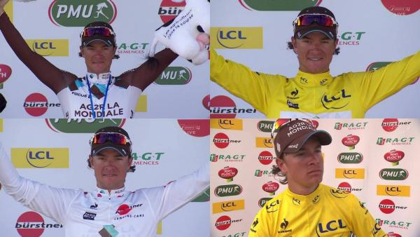 Carlos Betancur meilleur jeune, maillot jaune et double vainqueur d'étape Paris-Nice 14032014