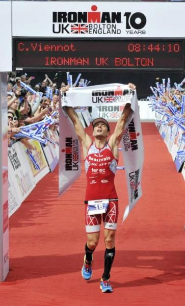 Victoire Cyril Viennot à l'Ironman de Grande Bretagne 2014