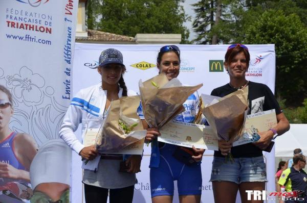 Full podium triathlon M de la Martinette 2015