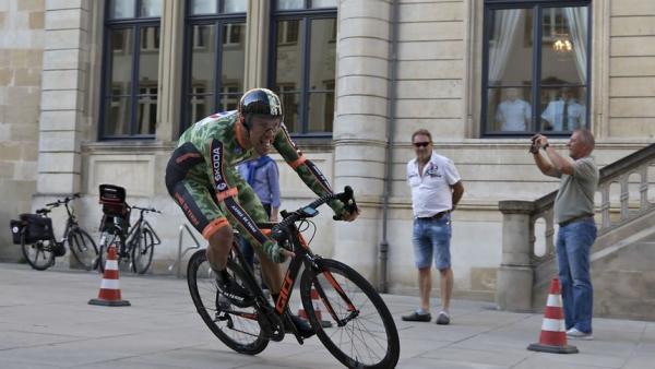Damien Gaudin (ici sur le prologue du Tour du Luxembourg 2017)