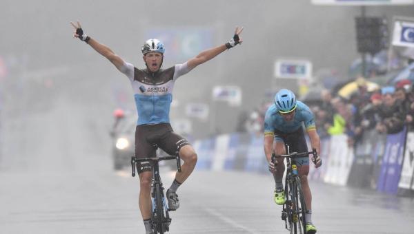 Victoire d'Oliver Naesen au GP de Plouay 2018