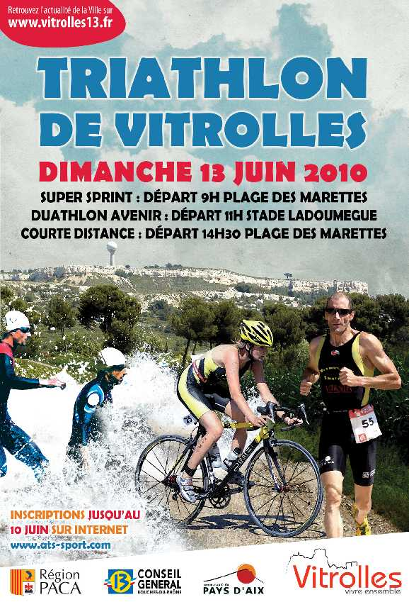 Affiche Triathlon de Vitrolles
